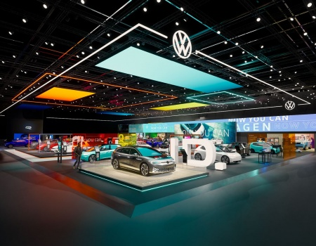 STAND OF VOLKSWAGEN AT GIMS 2020